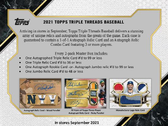 2021 Topps Triple Threads Baseball