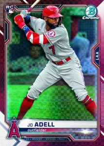 Base Rookie Red X-Fractor Jo Adell MOCK UP