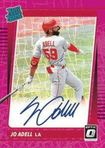 Rated Rookie Signatures Pink Velocity Jo Adell MOCK UP