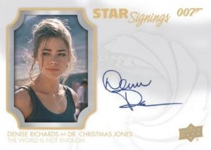 Star Signings Denise Richards as Dr Christmas Jones MOCK UP