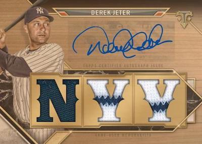 Triple Threads Auto Relic Wood Derek Jeter MOCK UP